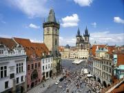 Vue panoramique sur la place de la Vielle Ville, Prague
